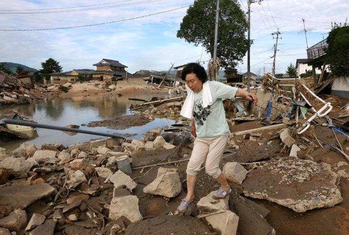 Japonya'daki sel felaketinde ölü sayısı 112'ye yükseldi 9