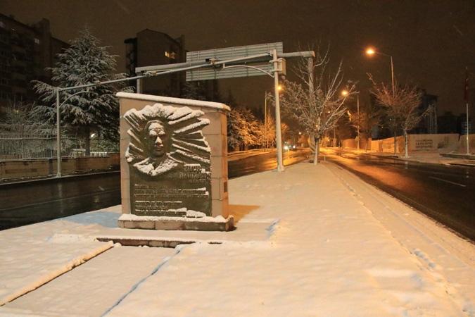 Ankara'da kartpostallık kar manzaraları 4