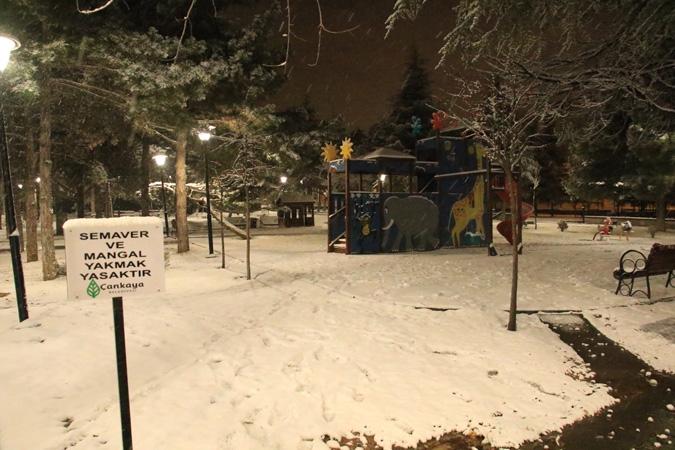 Ankara'da kartpostallık kar manzaraları 6