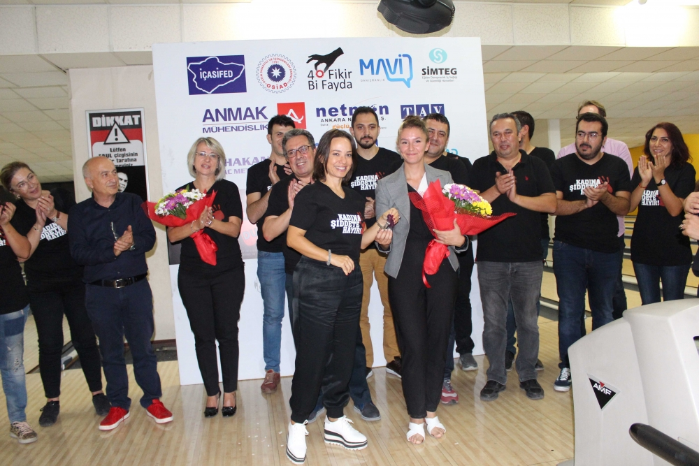 Kadına güç ve moral veren Bowling Turnuvası 1