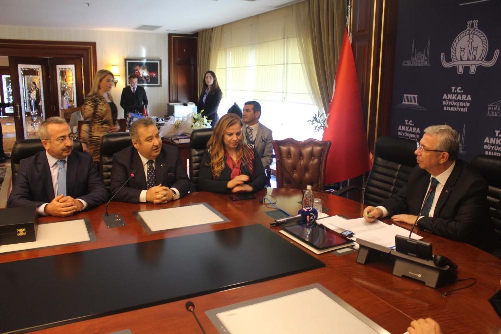 Başkent Ankara Meclisi'nden Mansur Yavaş'a ziyaret 3