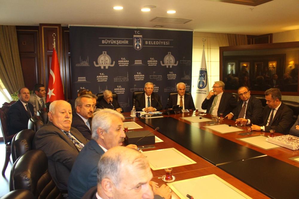 Başkent Ankara Meclisi'nden Mansur Yavaş'a ziyaret 4