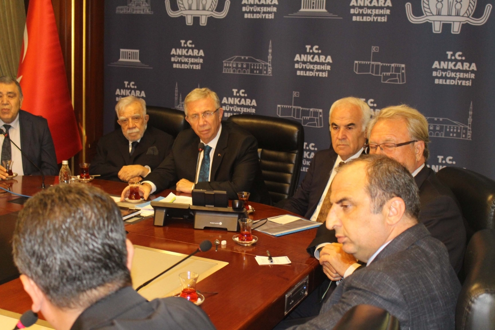 Başkent Ankara Meclisi'nden Mansur Yavaş'a ziyaret 7
