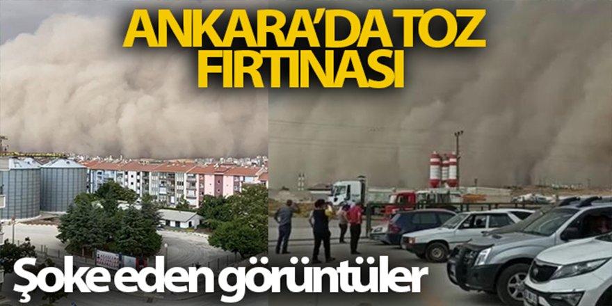 Ankara'da toz fırtınası