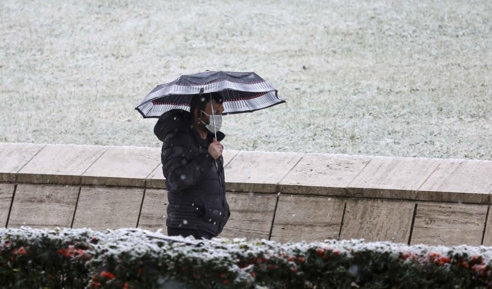 Ankara'da kar eşsiz kar manzaraları 1