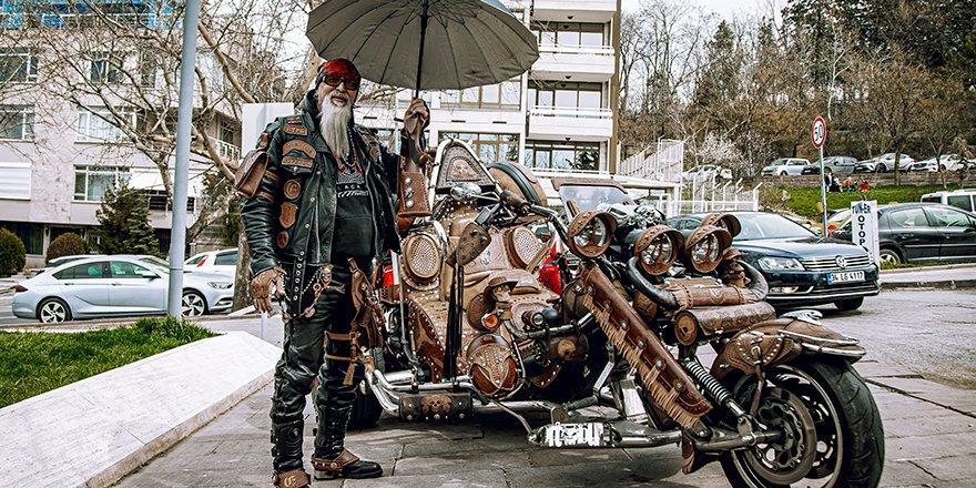Bu motosikletin dünyada eşi benzeri yok