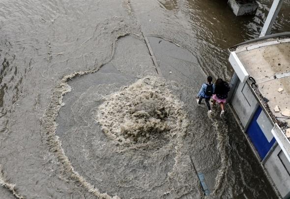 İstanbul'dan sel manzaraları 17