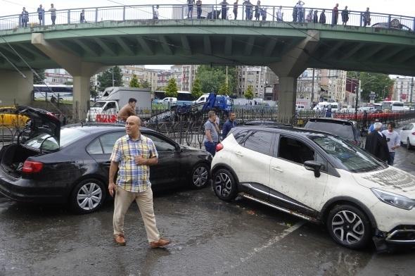 İstanbul'dan sel manzaraları 21