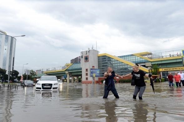 İstanbul'dan sel manzaraları 5