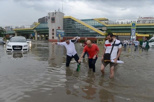 İstanbul'dan sel manzaraları 6
