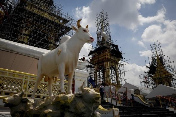 Tayland kralının yakılması için saray yapılıyor 9