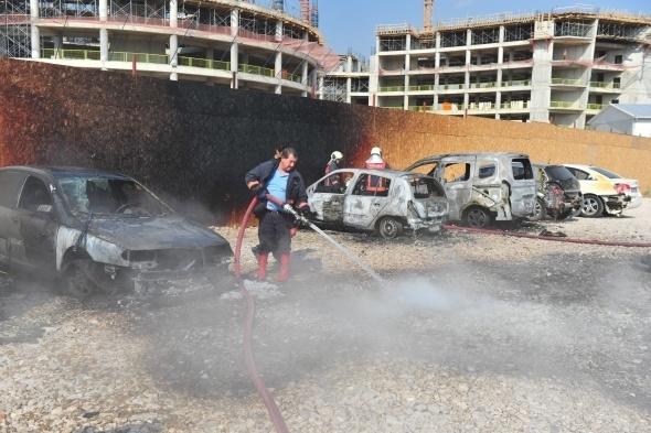Başkent'te 7 araç yandı 7