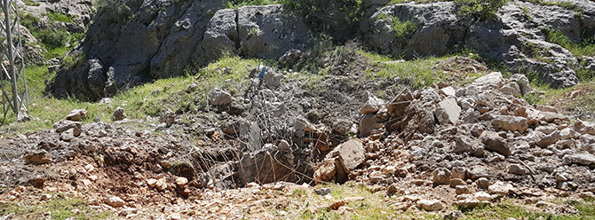 PKK'lılar içme suyu hattını bombalayarak zarar verdi