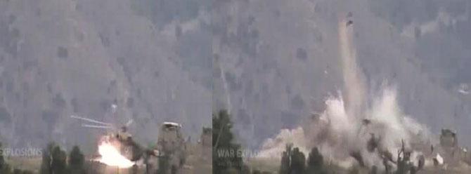 Taliban, Afgan ordusu helikopterini böyle havaya uçurdu!