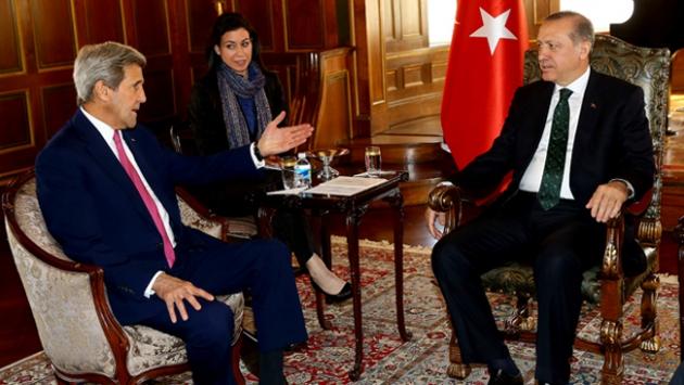 Cumhurbaşkanı Erdoğan John Kerry ile görüştü