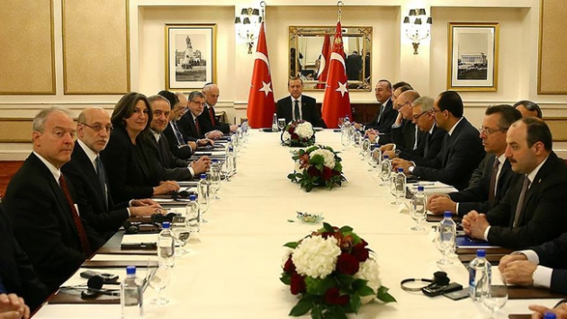 Cumhurbaşkanı Erdoğan Musevi temsilcileri kabul etti