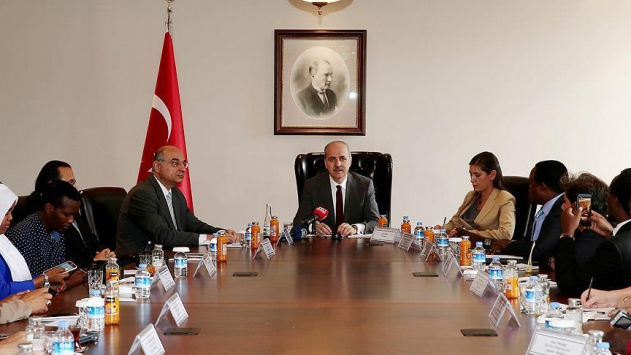 Başbakan Yardımcısı Kurtulmuş yabancı gazetecileri kabul etti