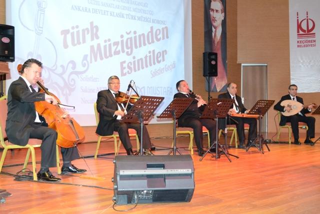 Keçiören'de Türk Müziği esintisi