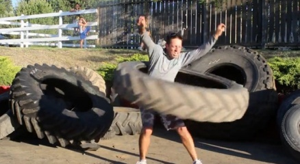 55 kiloluk lastikle hulahup haberi