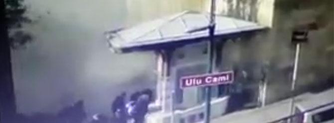 Bursa'daki patlama güvenlik kamerasında