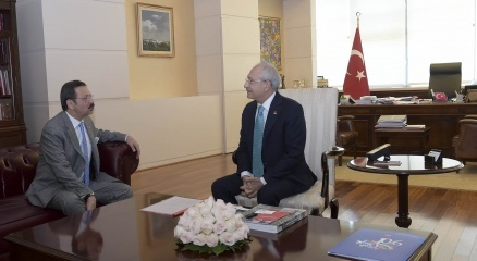 CHP Genel Başkanı Kılıçdaroğlu, Hisarcıklıoğlu'nu kabul etti haberi