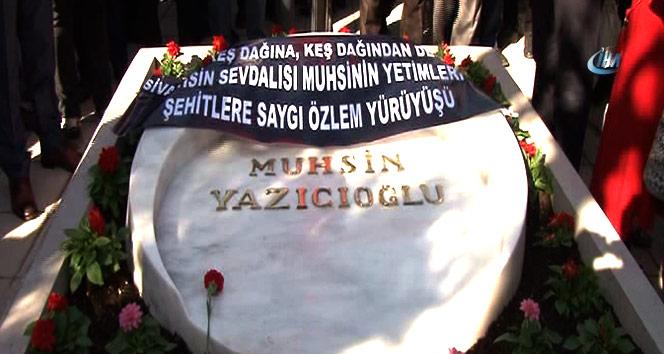 Vefatının 8. yılında Merhum Yazıcıoğlu'nun sevenleri kabri başına koştu
