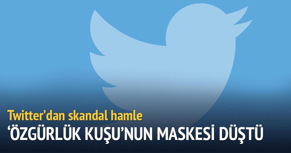 Erdoğan sevgisine Twitter'dan sansür