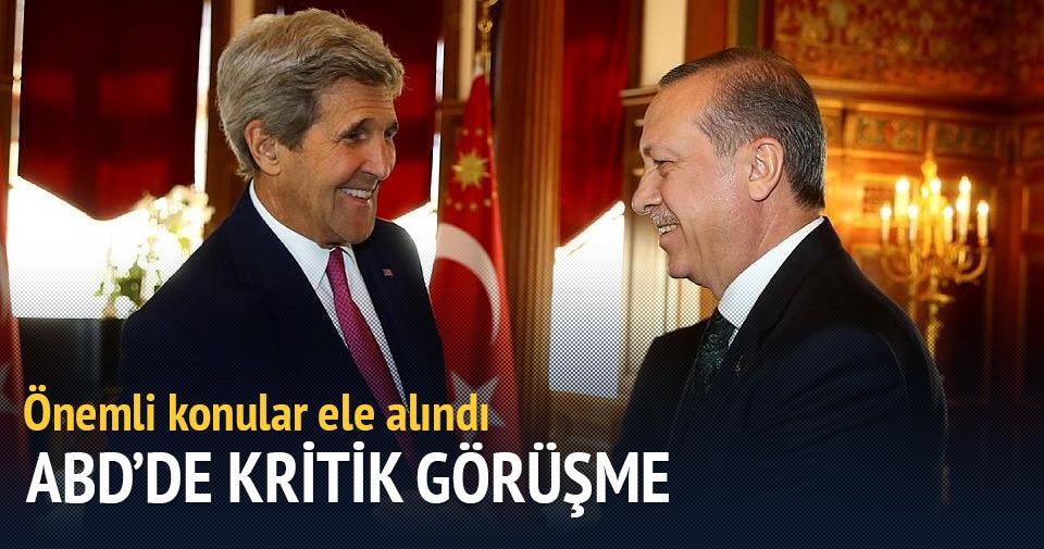 Cumhurbaşkanı Erdoğan, John Kerry ile biraraya geldi