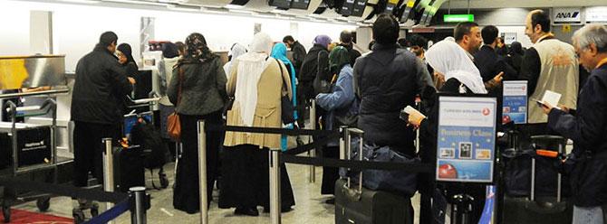 Turist sayısı yüzde 13'e yakın düştü