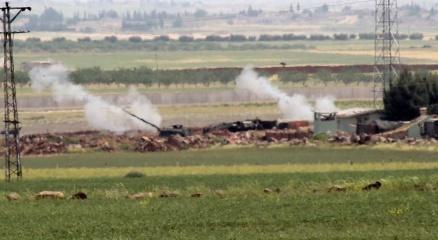 Fırtına obüs topları IŞİD mevzilerini vuruyor haberi