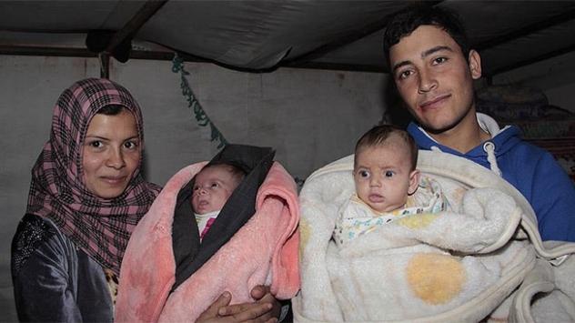Suriyeli ikiz bebekler çadırda yaşam savaşı veriyor