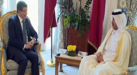 Davutoğlu, Katar Başbakanı ile görüştü