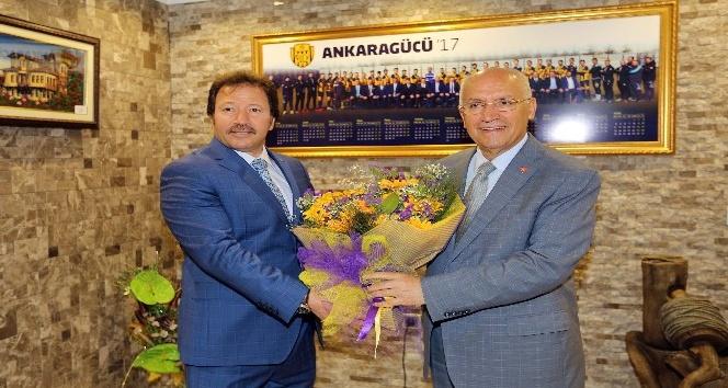 Başkan Fethi Yaşar'dan Ankaragücü'ne tebrik ziyareti