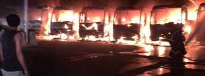 Bin Ladin'in işçileri Mekke'de şirketin otobüslerini yaktı