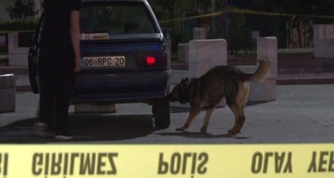 Kızılay Meydanı'nda şüpheli araç polis ekiplerini alarma geçirdi