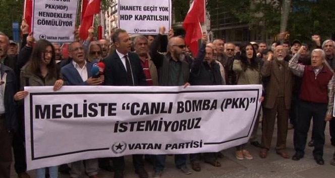 Başkent'te HDP protestosu
