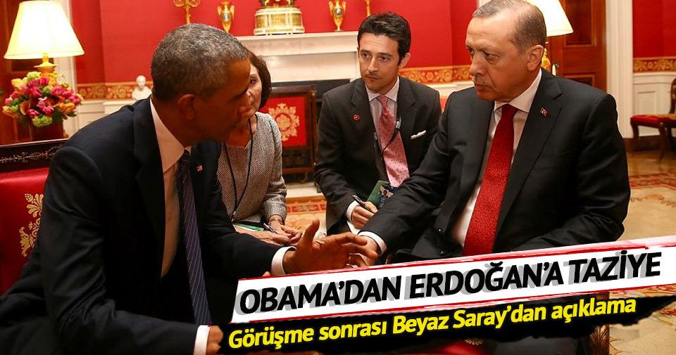 Obama Edoğan'a taziyelerini iletti