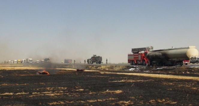 Nusaybin'de korkutan tanker yangını