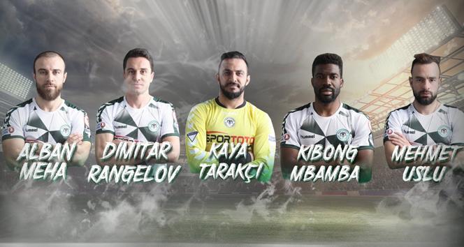 Konyaspor'da 5 oyuncu ile yollar ayrıldı