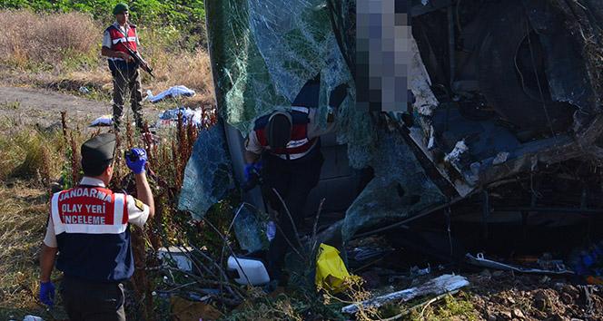 Balıkesir'de otobüs kazası 1 ölü 40'tan fazla yaralı