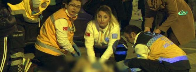 Ankara'da otomobil yayalara çarptı: 2 ağır yaralı
