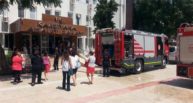 Karşıyaka Adliyesinde yangın paniği