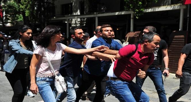 Başkent'te Gülmen ve Özakça eyleminde 1 kişi gözaltına alındı