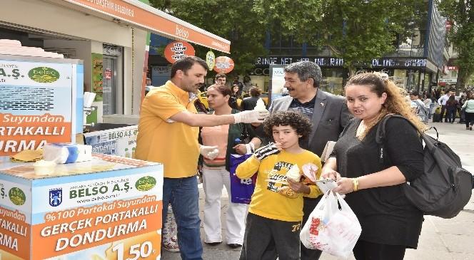 Büyükşehir'den Ankaralılara 'portakallı Dondurma'