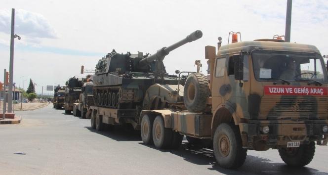 Suriye sınırına askeri sevkıyat yoğunluğu