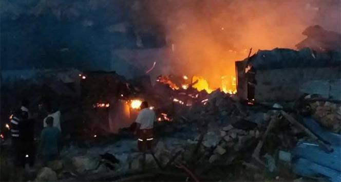Erzincan'da 11 ev ve 11 ahır kül oldu