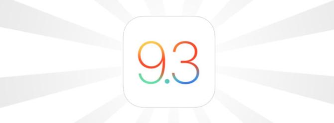 En iyi ve stabil iOS sürümü iOS 9.3 oldu!