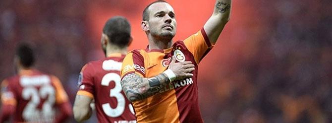 Galatasaray'a Sneijder'den iyi haber