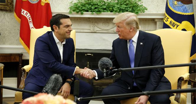 Trump, Çipras ile bir araya geldi