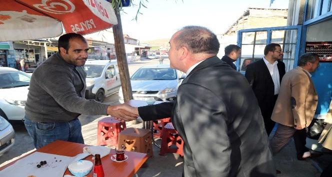 Başkan Duruay mesaiye esnaf ziyaretiyle başladı